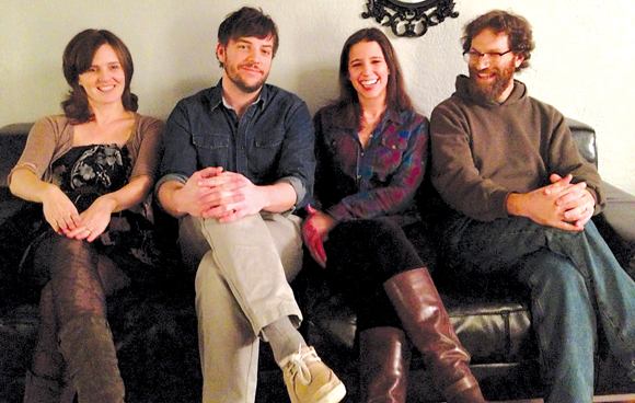 Atlanta Drive resident David Manchester (far right), Susanna Meyers, Brandon Forbes and Ariel Nieland make up alt-folk band Arlo Aldo.