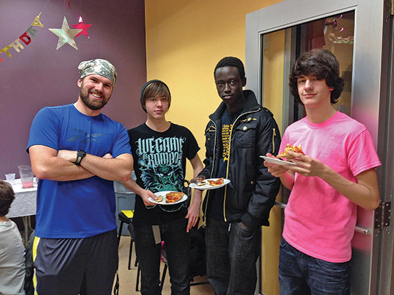 Matt Urian,far left, Mt. Lebanon United Methodist Church, revived the teen program last year after it had been abandoned for some time. He believes a successful program starts with building trusting relationships with the kids and planning the type of events that they will want to make time for.