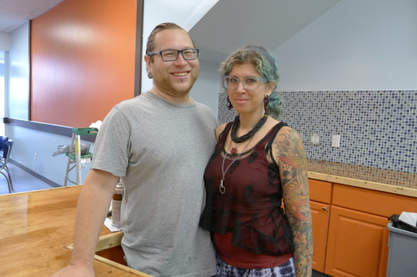 Stephen and Rena Antosz of Baden, Beaver County, who are opening their second Blue Canary CoffeeHouse, in the Lebanon Shops. The first is near Ambridge.
