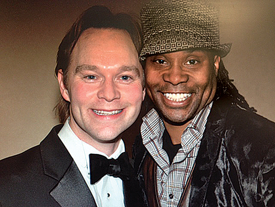 Executive Director Billy Hartung, pictured at a CTA fundraiser with Broadway's Billy Porter, connects with many Center alums; the Friday program for children with special needs is a long proud tradition; musical theater remains at the Center's heart.