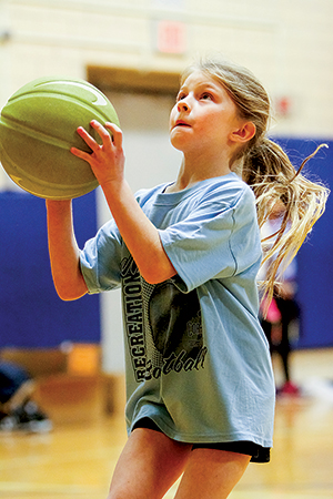 More than 300 kids on 31 teams are playing iin the second- and third-grade basketball program. An introductory program for first-graders begins January 8.