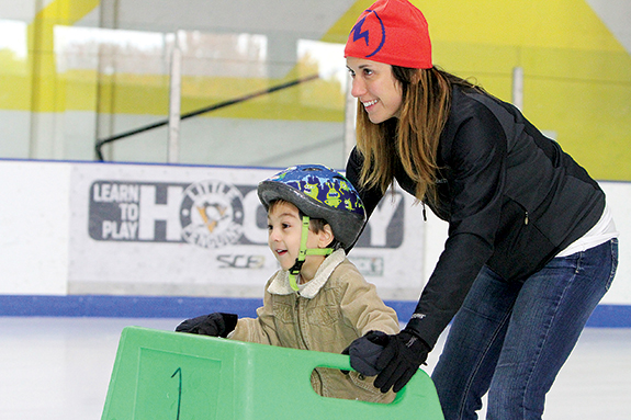 Playdate on Ice gives you and your child two hours of playtime at the rink, with a group lesson, snacks and change back from your $5 bill.