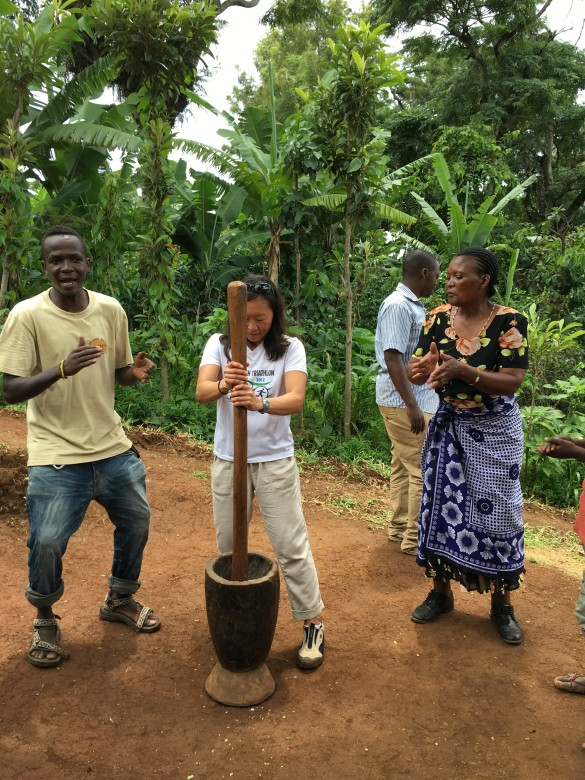 Making coffee to the Chagga chant