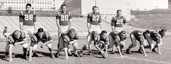 Blue Devils football was just as popular in the 1950s as it is today.
