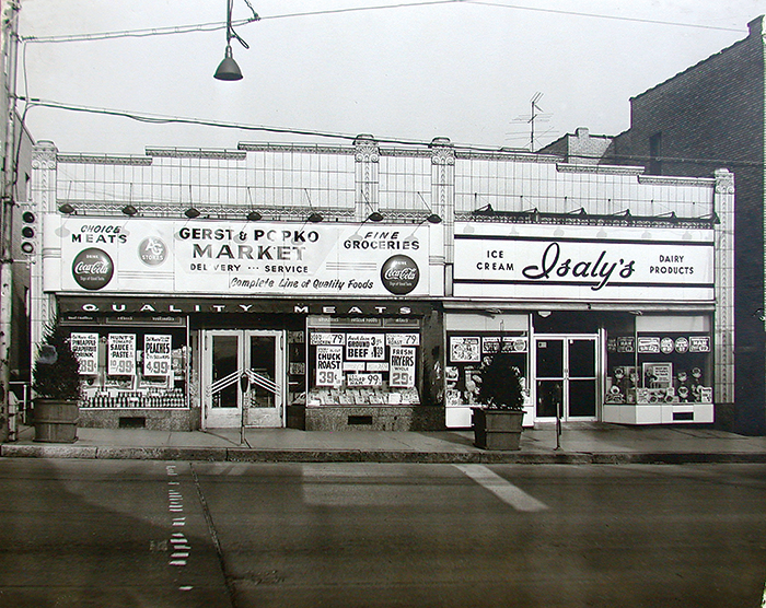 Isaly's on Washington Road, famous for its chipped ham and skyscrapers cones, and was a popular teenage hangout. Teens also loved Mandell's across the street for iceballs, vanilla cokes, comic books and movie magazines, and flocked to Gardners to buy the latest records.