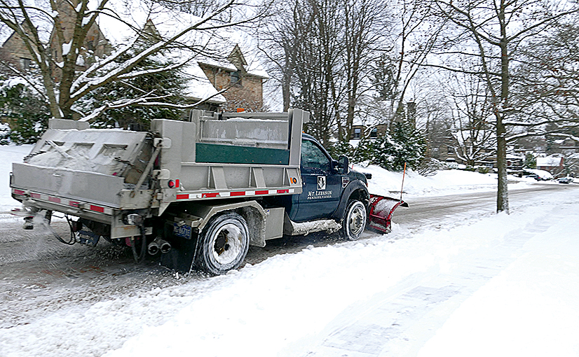 In the list of the 178 approved items in Mt. Lebanon's annual operating budget, snow and ice control ranks seventh in importance. We have $901,980 budgeted to keep the roads clear in winter. /Photo: Judy Macoskey