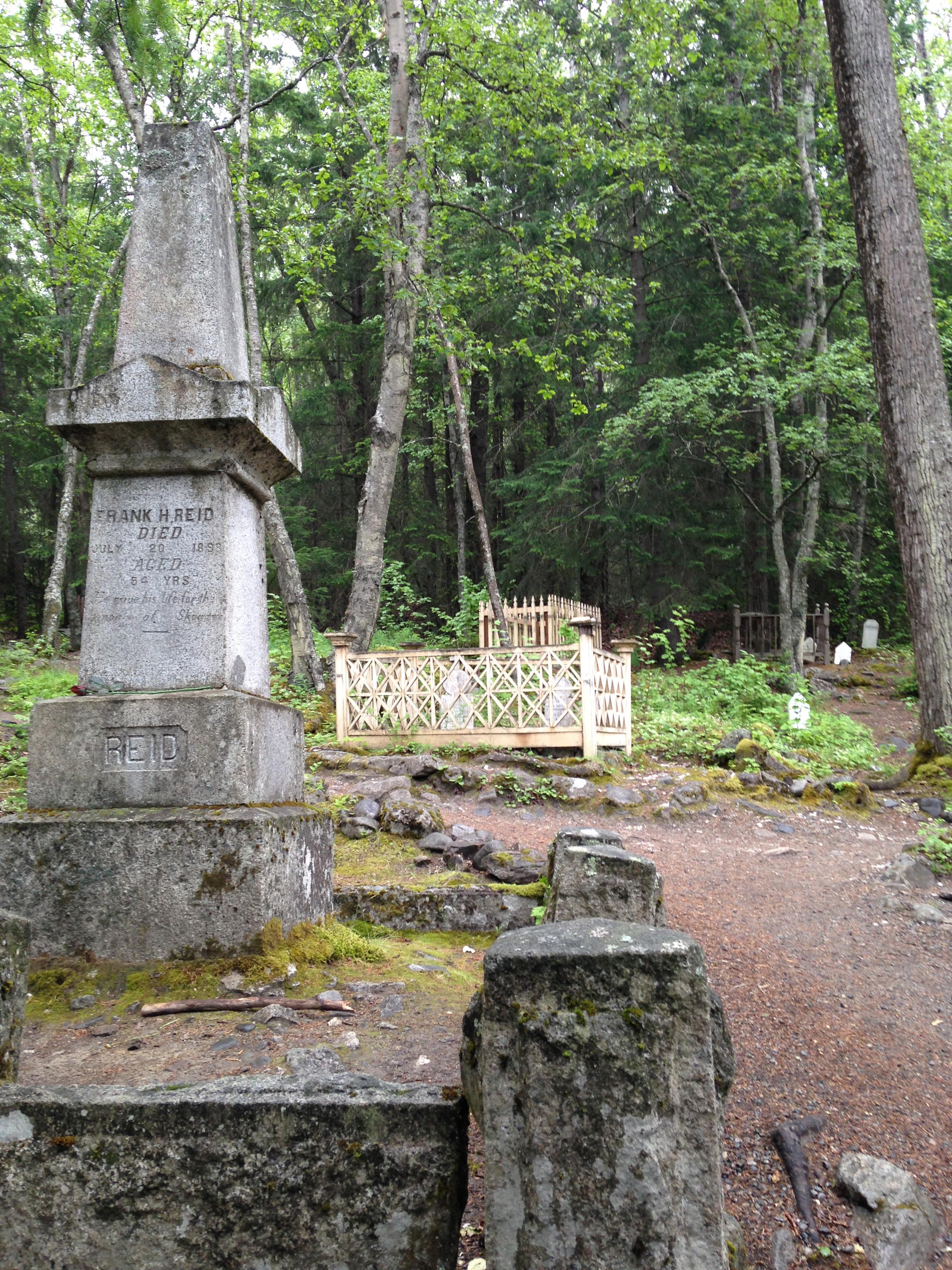 Gold Miners Graveyard in Skagwa
