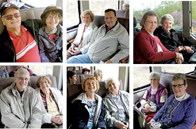 Travelers of all ages came single, in couples or in groups to enjoy a comfortable bus ride to the AAA Four-Diamond  Bedford Springs Hotel for breakfast.