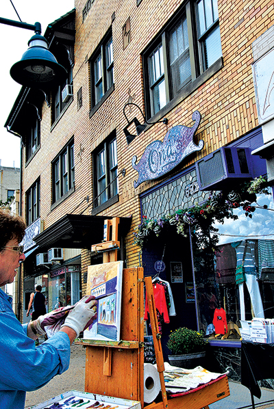 Plein Air, a neighborhood festival of the arts, is Sunday, October 5, through Sunday, October 12, when painters hit the sidewalks of Mt. Lebanon to paint what they see
