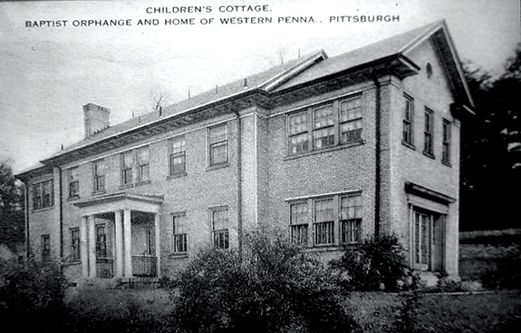 One of the children's cottages where the kids lived under their housemothers' supervision, remains at Baptist Homes and now serves as an office building.