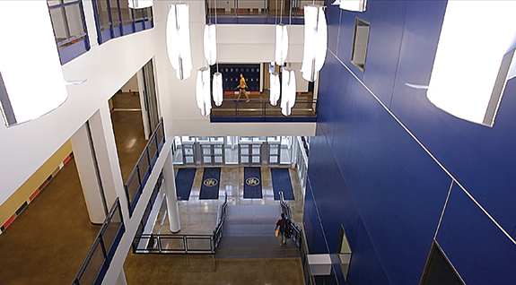 The new Horsman Drive main entrance as seen from the grand staircase.