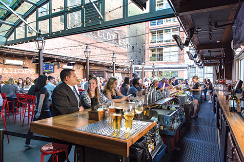 Sienna Mercato is one of many downtown spots that serves up a variety of food cocktails and fun.