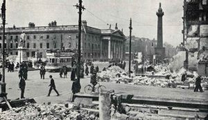 The view of the GPO after the Rising. Credit: Dublin City Library & Archive