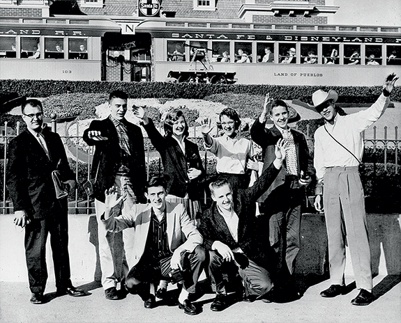 Roots of excellence: Lebo's band, directed by Phil Prutzman, traveled by train to the Rose Bowl in 1956.