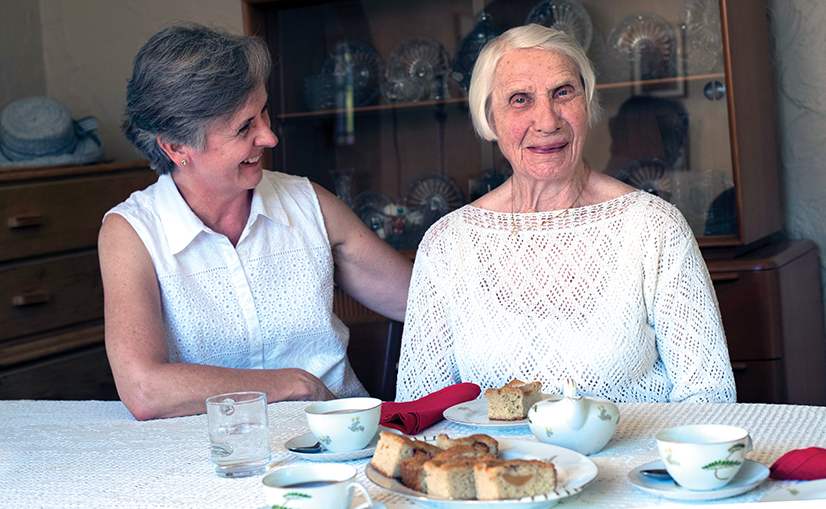 Michalina Pendzich and her mother Wanda Pendzich at Wanda's Mt Lebanon home.