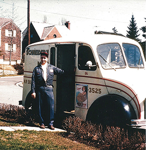The milkman was a fixture in 1950s neighborhoods. Because refrigerators were smaller, perishables had to be purchased daily.