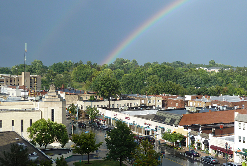 Rainbow over Washington Road. /Photo: Dan Gigler