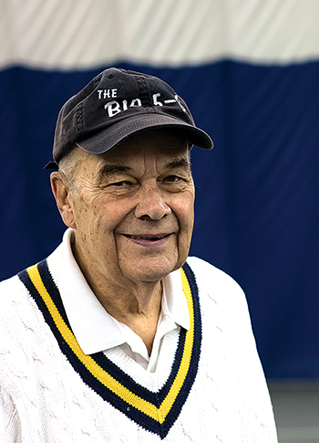 Tony Waterman, a longtime president, has been dedicated to Indoor Tennis for 50 years.