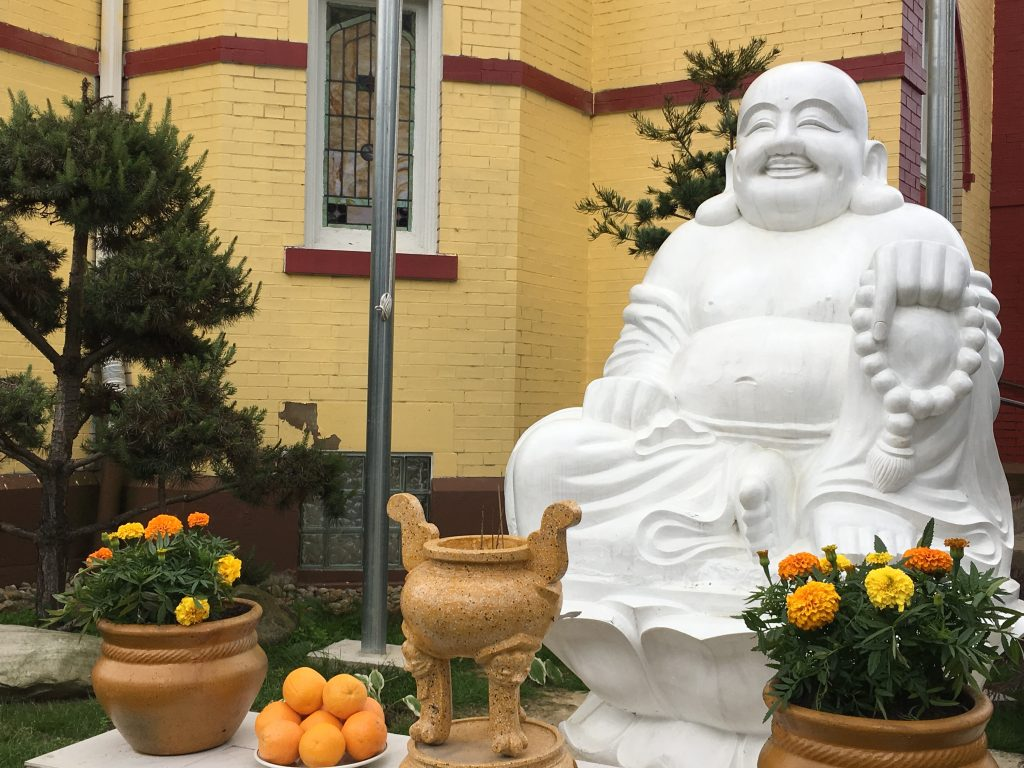 Buddha outside the Thien Vien Van Hanh Monastery