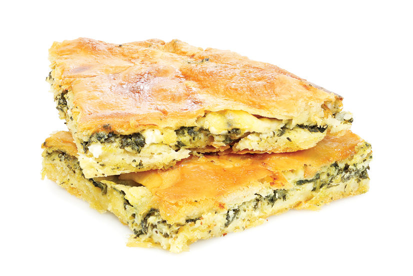 Greek orthodox food, tiropita.